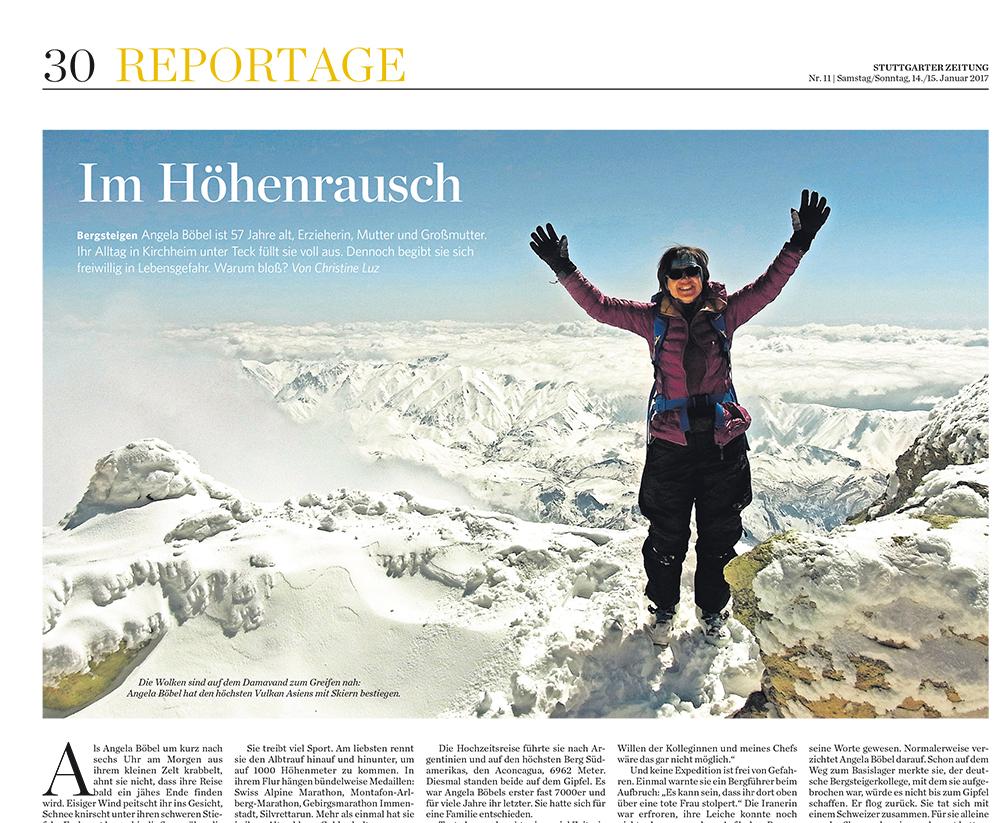 Bergsteigerin Angela Böbel