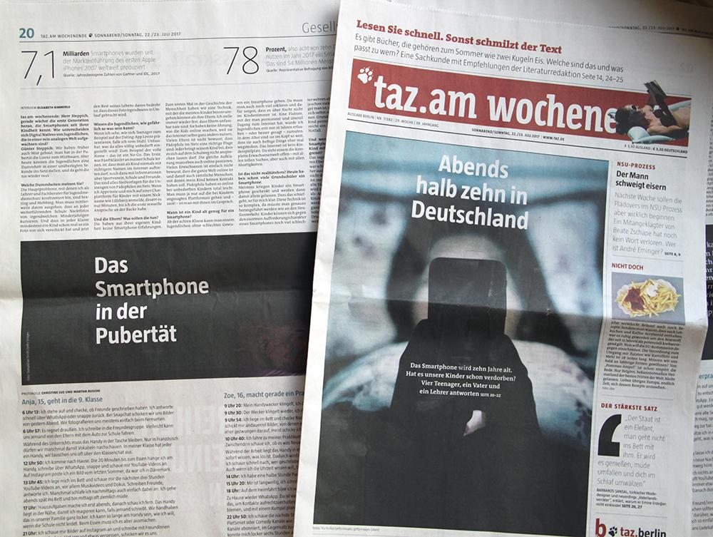 taz smartphone artikel