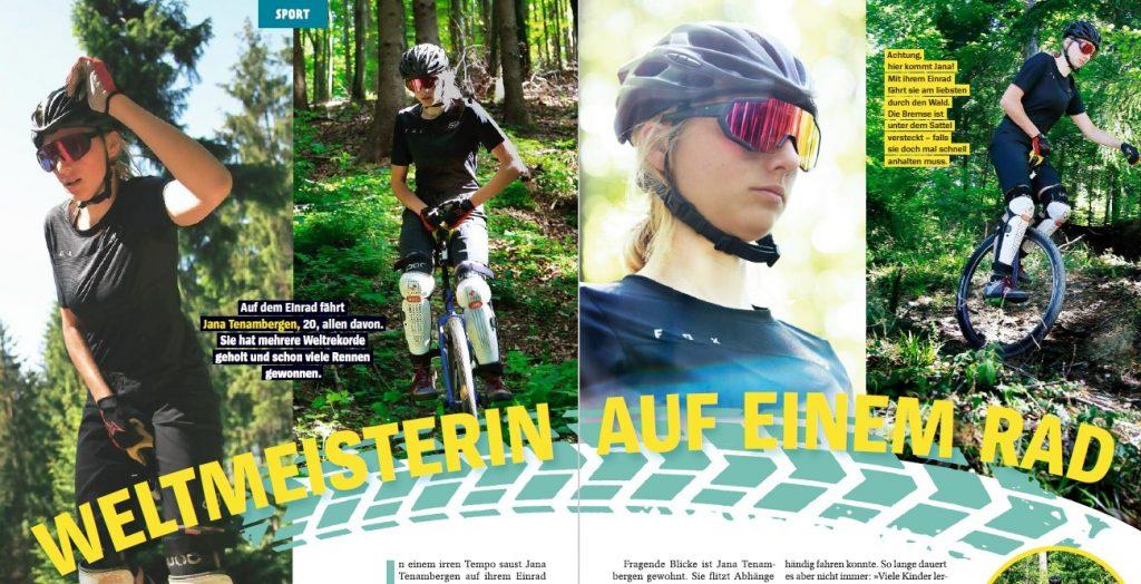 Ausschnitt Magazin über Jana Tenambergen
